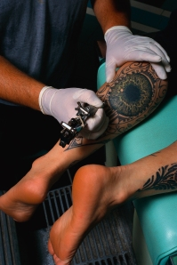 Tattooing Leg