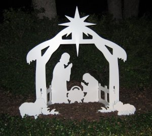 Nativity Scene at Night
